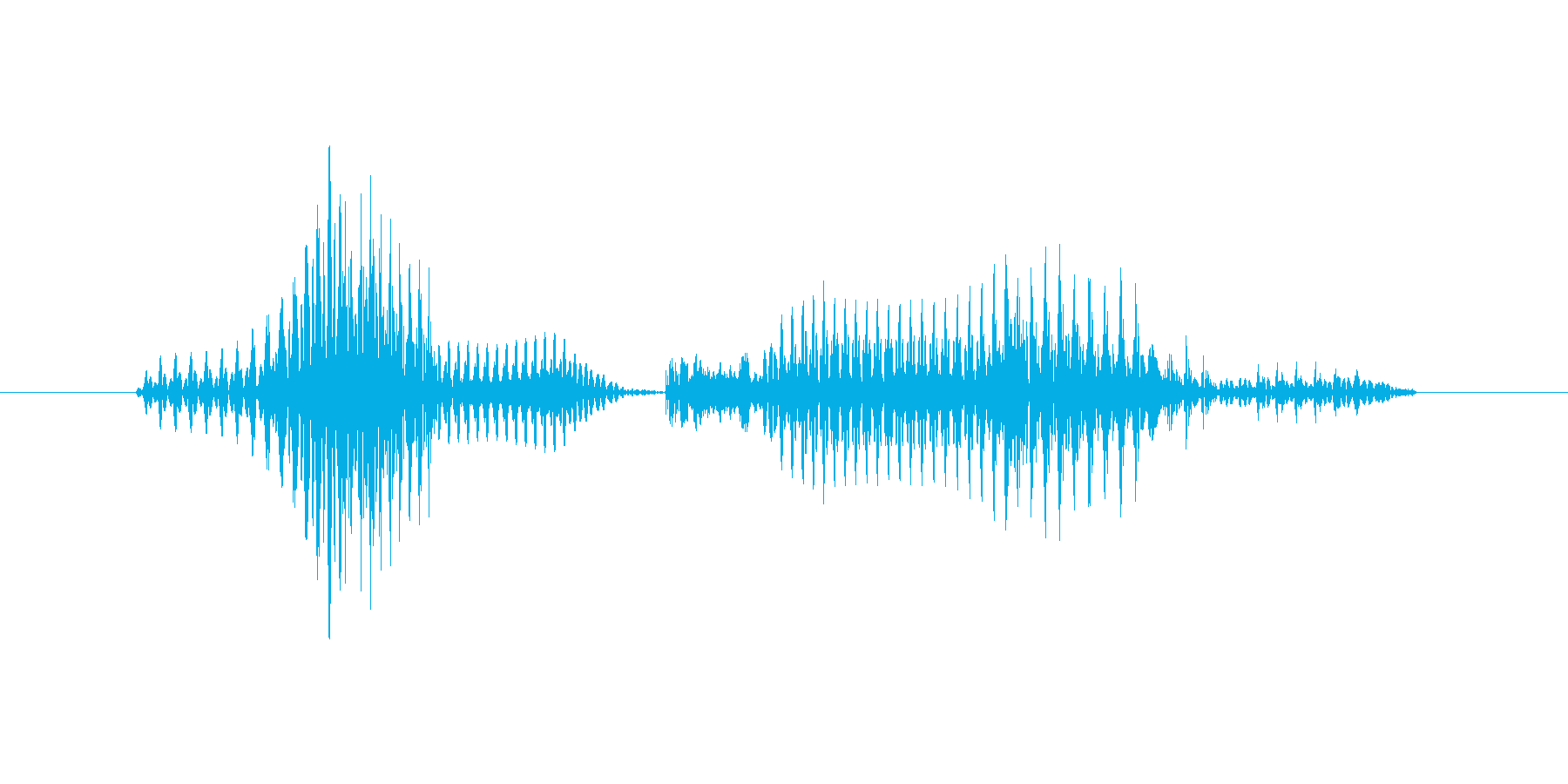 「1 PM」英語発音の再生済みの波形