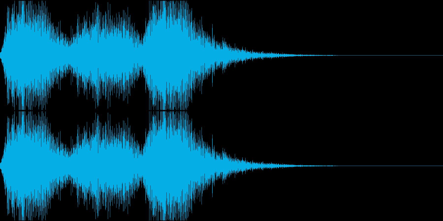 締めの音(オーケストラ)の再生済みの波形