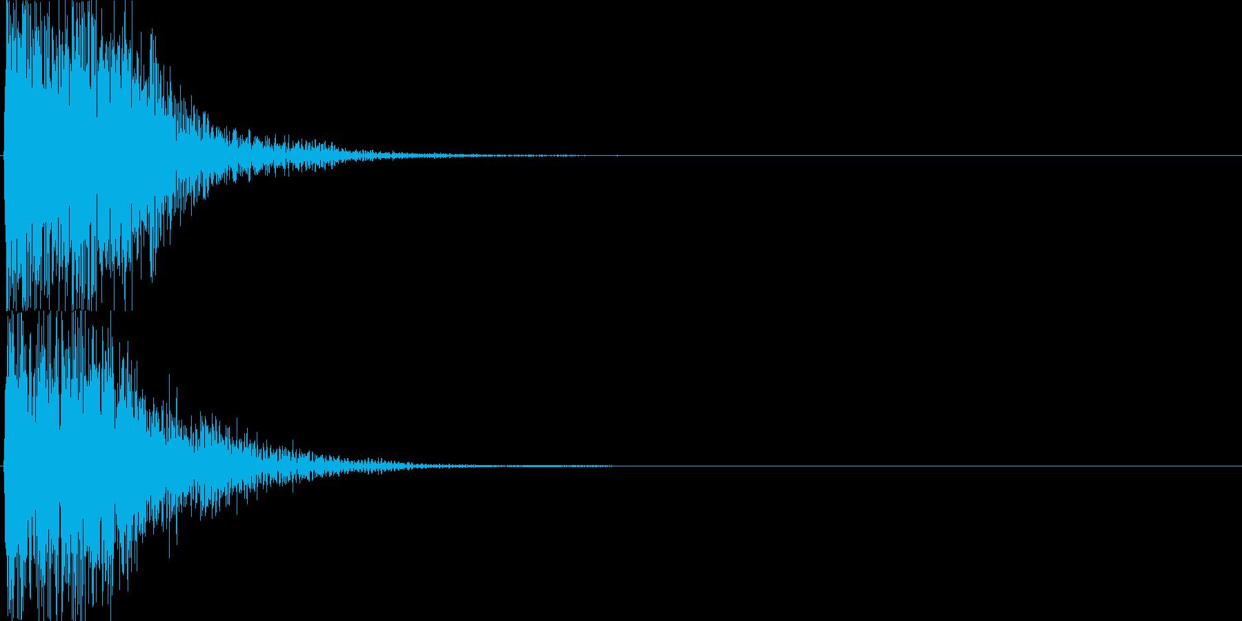 ピコ(ゲーム、アプリなどの操作音06)の再生済みの波形