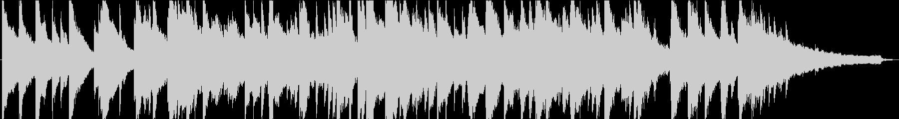 甘切ない雰囲気の約60秒のピアノ楽曲ですの未再生の波形