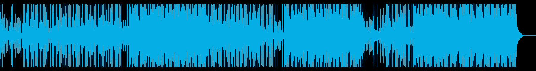 トロピカルEDMなサウンドの曲の再生済みの波形