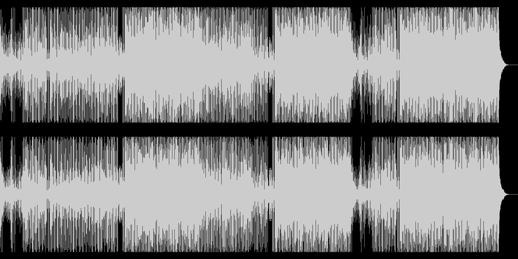 トロピカルEDMなサウンドの曲の未再生の波形
