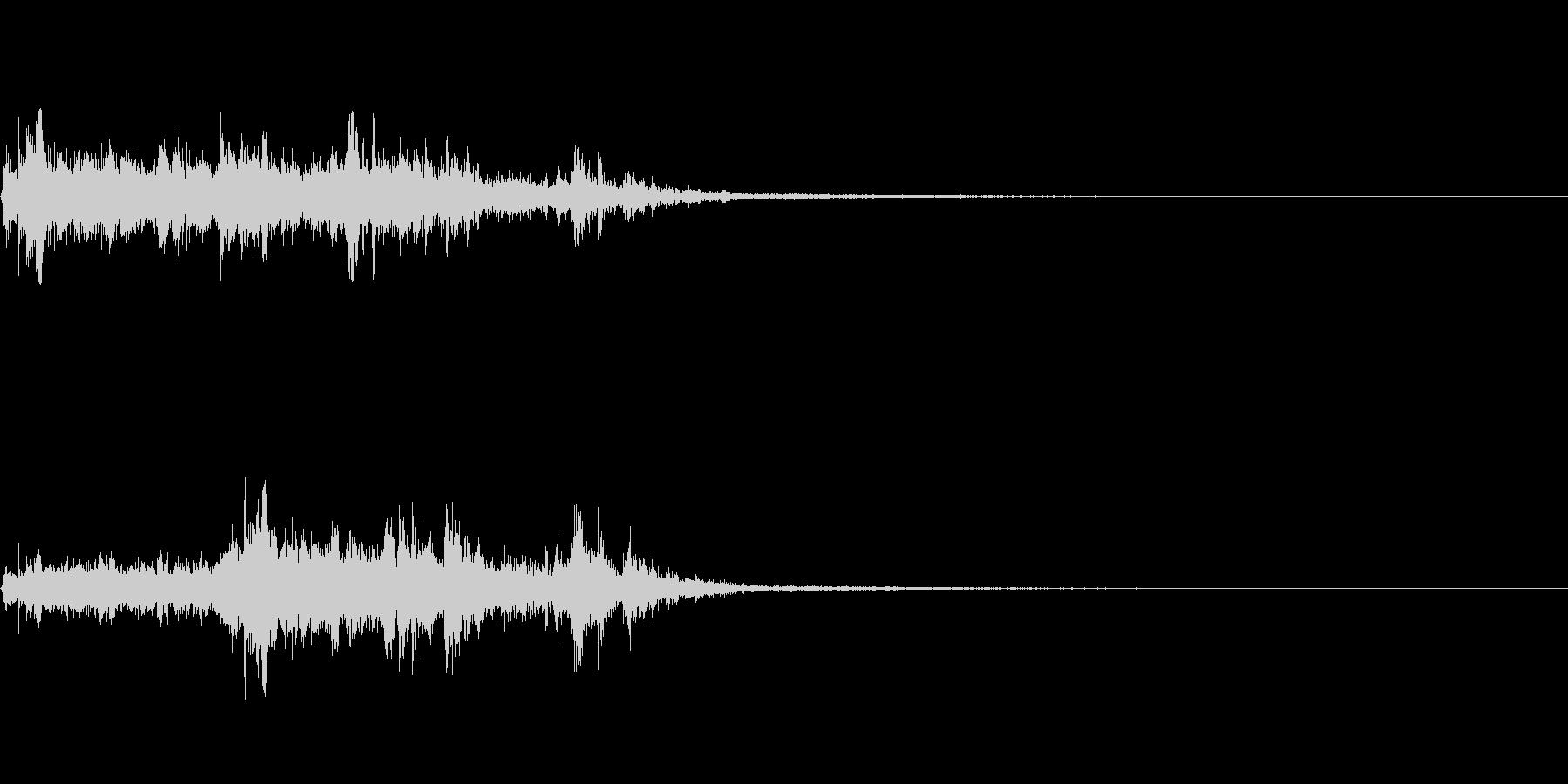 水の流れる音~短め~の未再生の波形