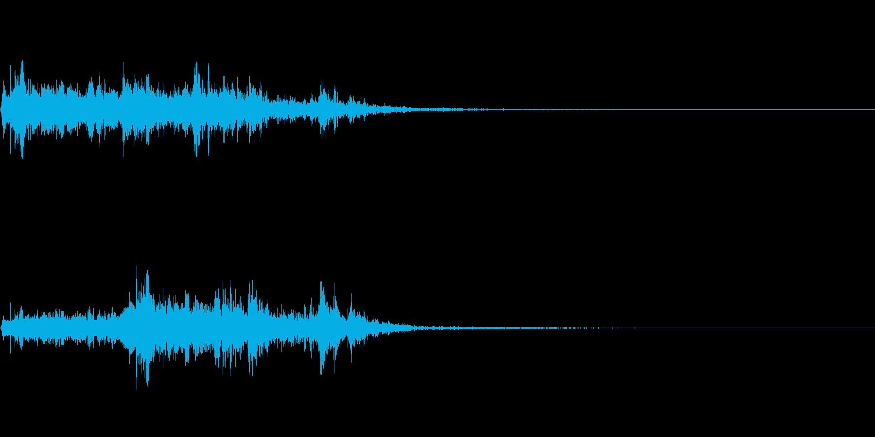 水の流れる音~短め~の再生済みの波形