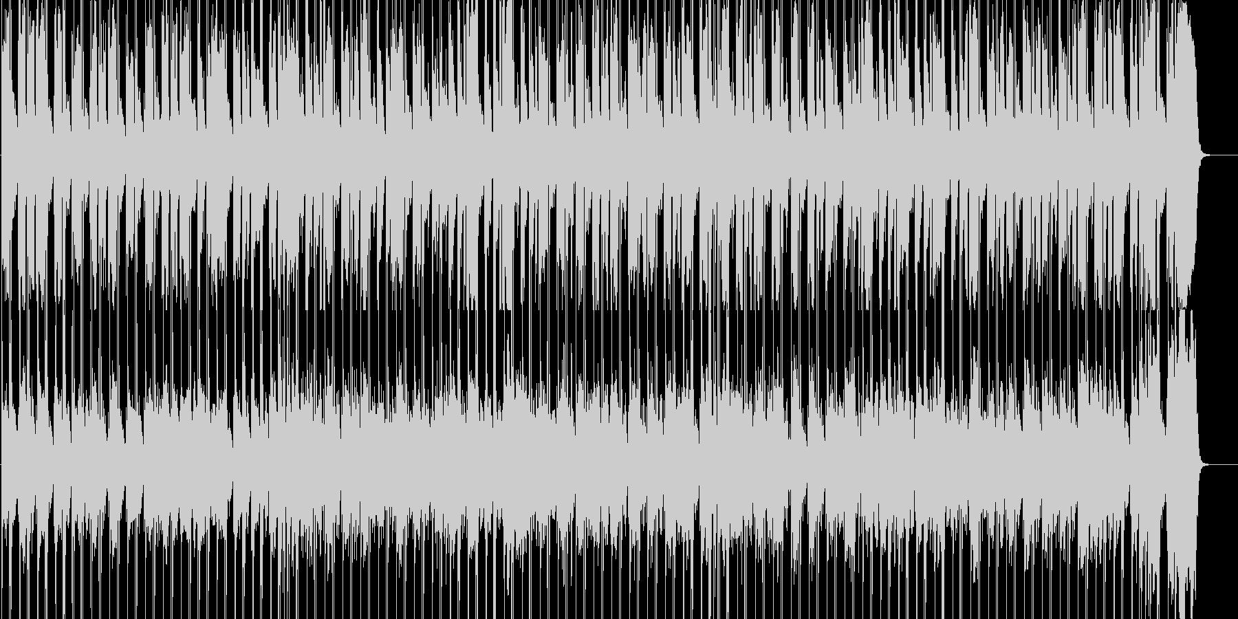 のんびり、軽快に前へ進むイメージの未再生の波形