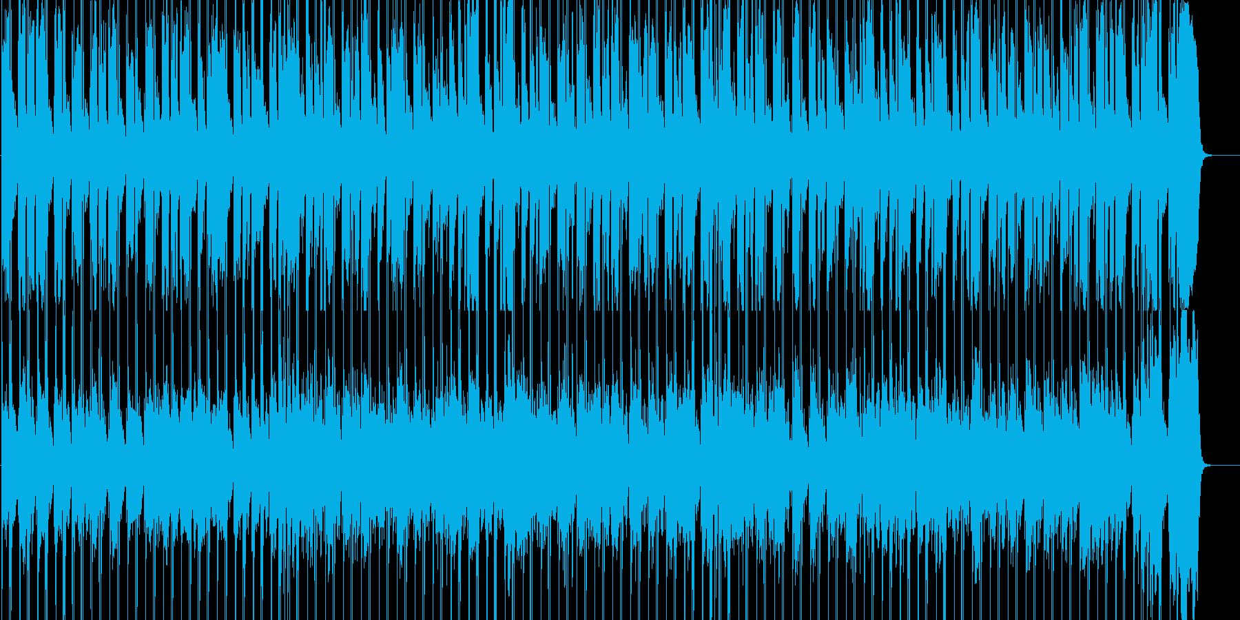 のんびり、軽快に前へ進むイメージの再生済みの波形