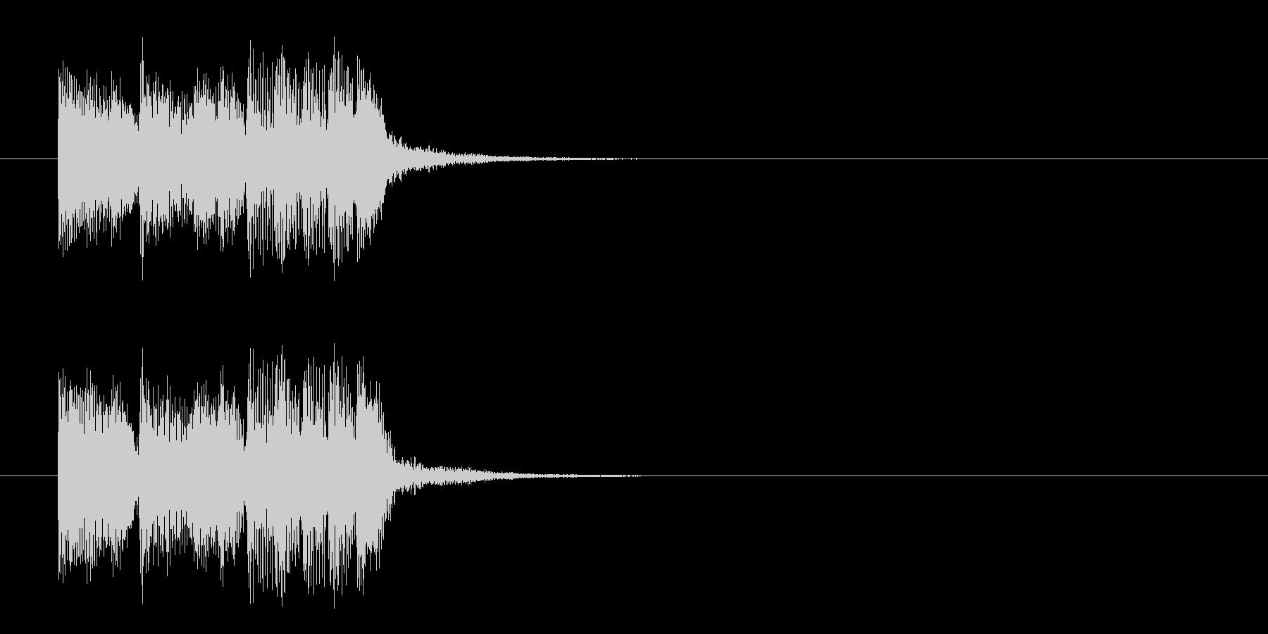 ジングル(ニュー・ミュージック風)の未再生の波形