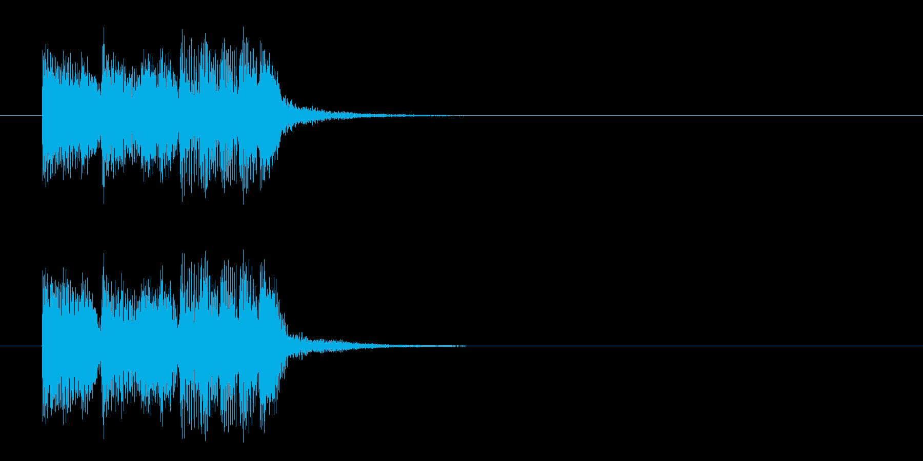ジングル(ニュー・ミュージック風)の再生済みの波形
