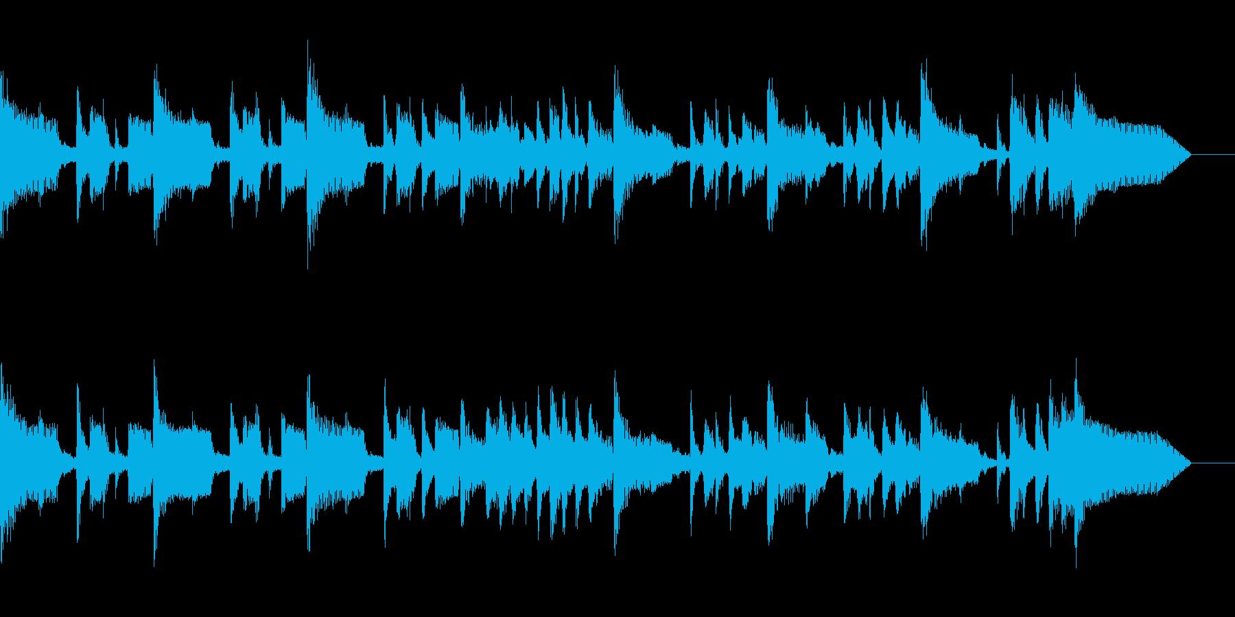 キラキラとしたポップスの再生済みの波形