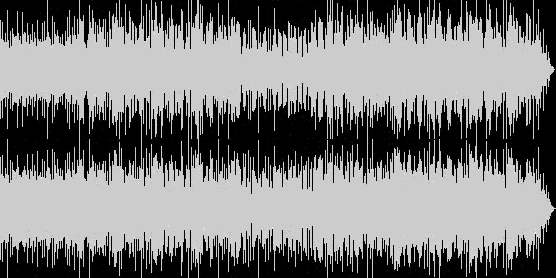 躍動感のアコースティックギターの未再生の波形
