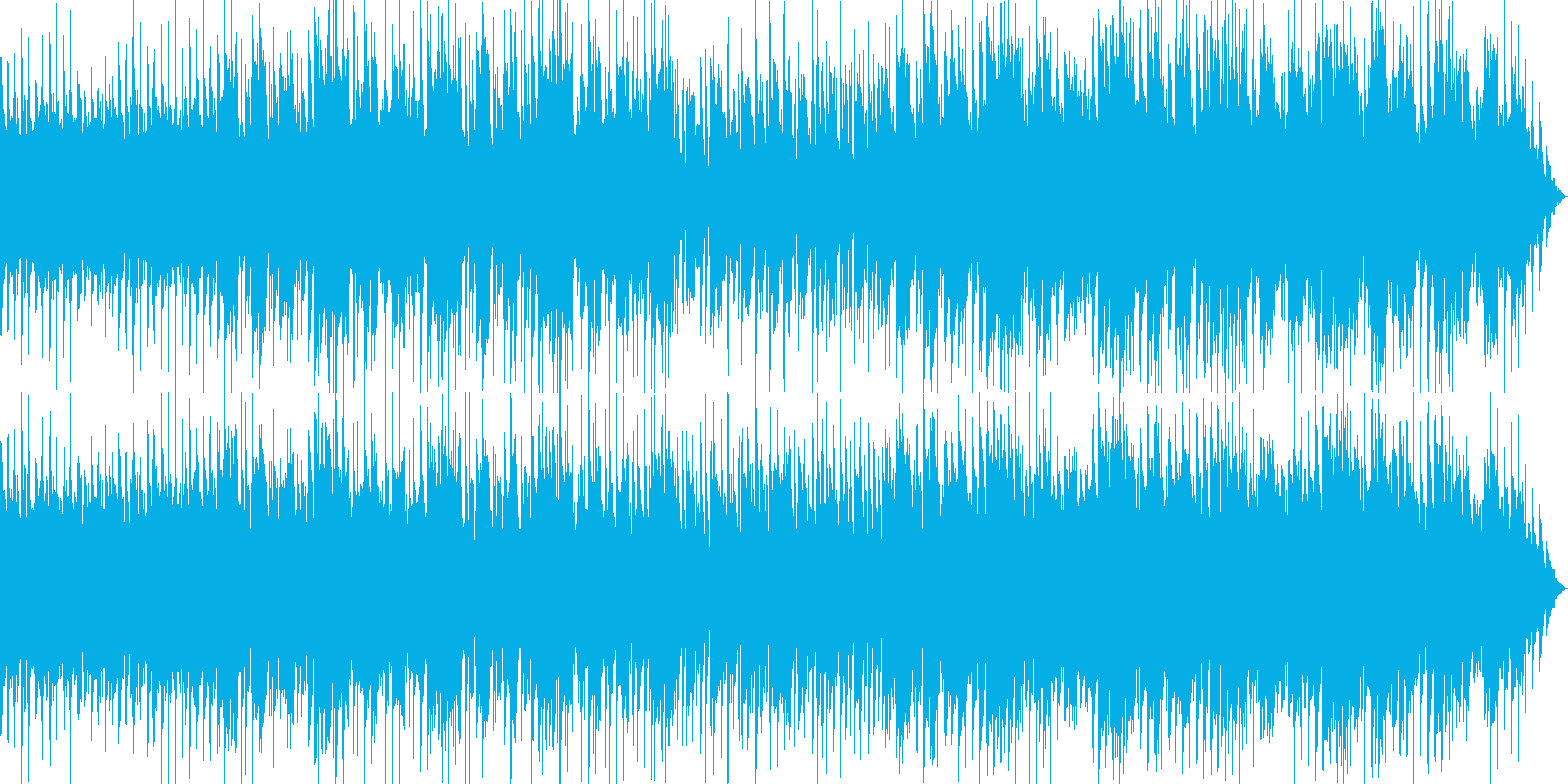 躍動感のアコースティックギターの再生済みの波形