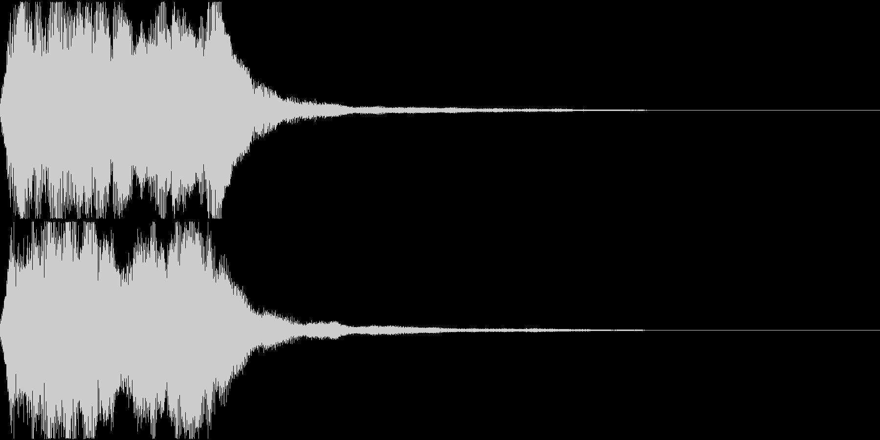 ラッパ ファンファーレ 定番 6 早いの未再生の波形