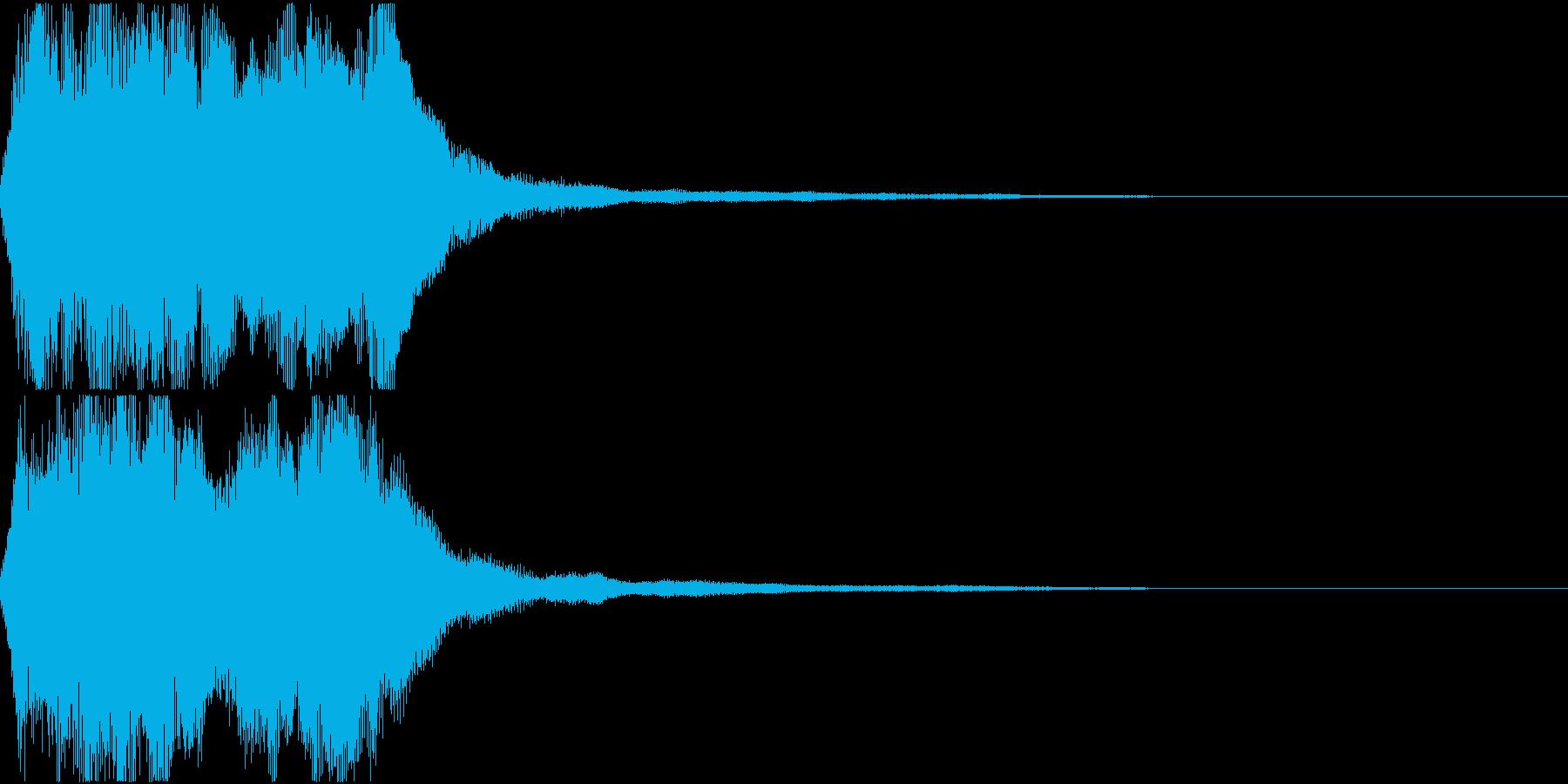 ラッパ ファンファーレ 定番 6 早いの再生済みの波形