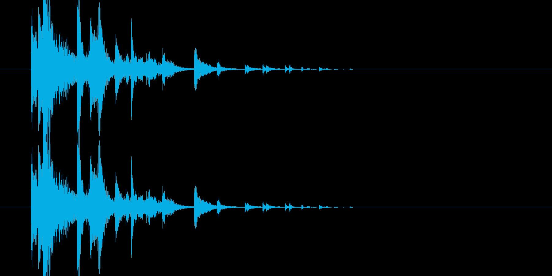 カランカラン(食器の物音)の再生済みの波形