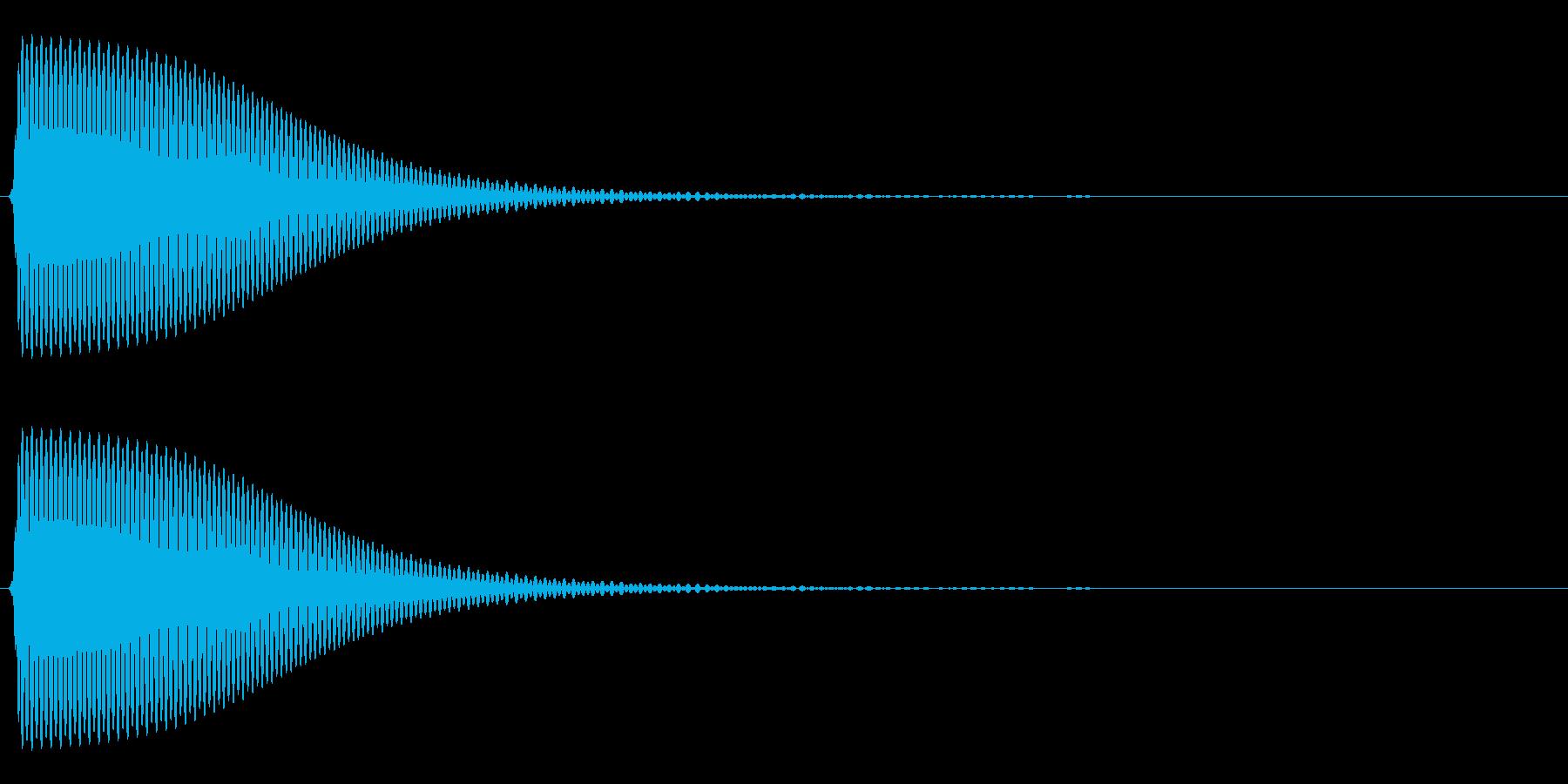 Com ファミコンなどのコマンド音 13の再生済みの波形