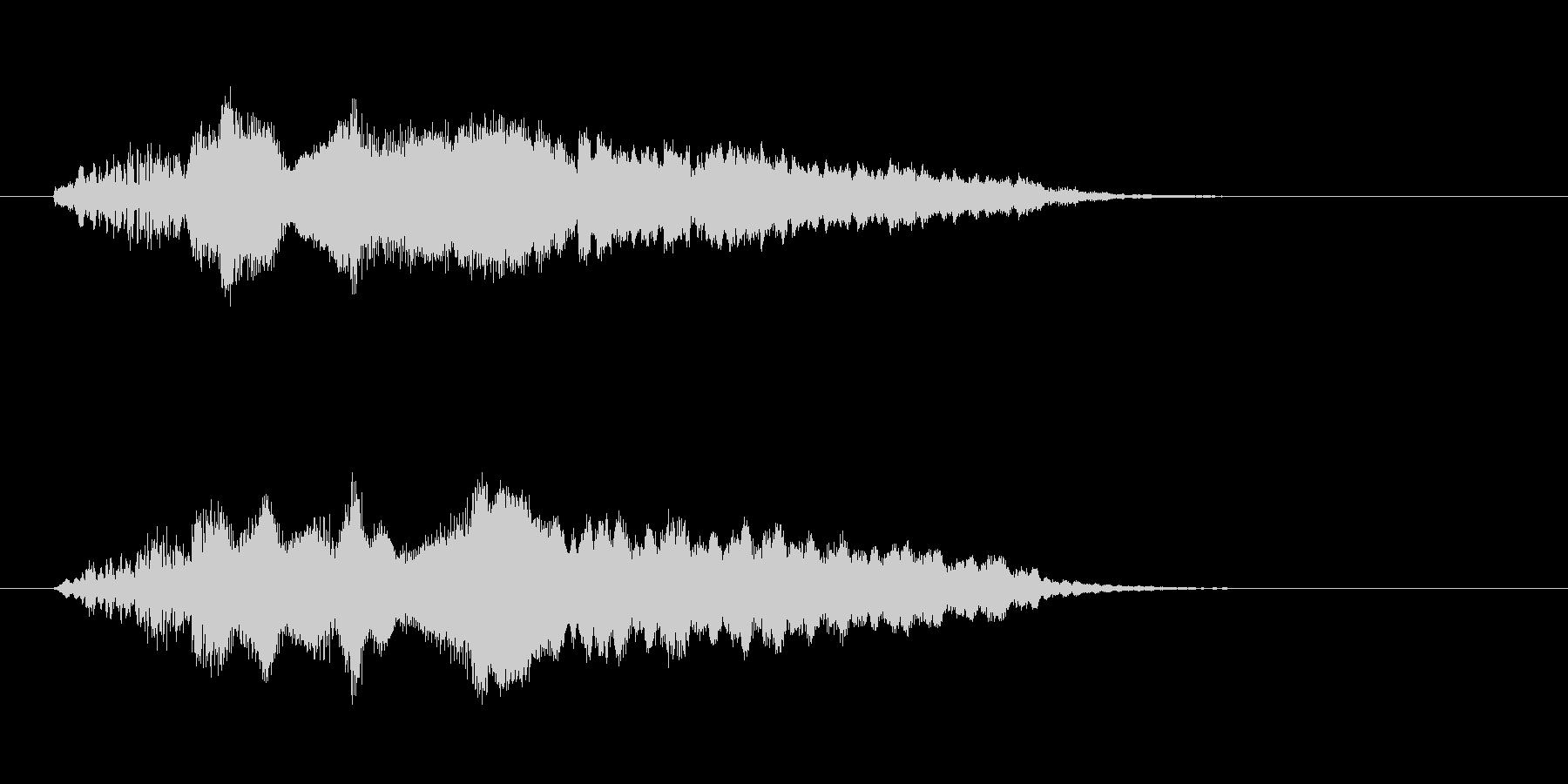 さわやかなフルートのジングルの未再生の波形