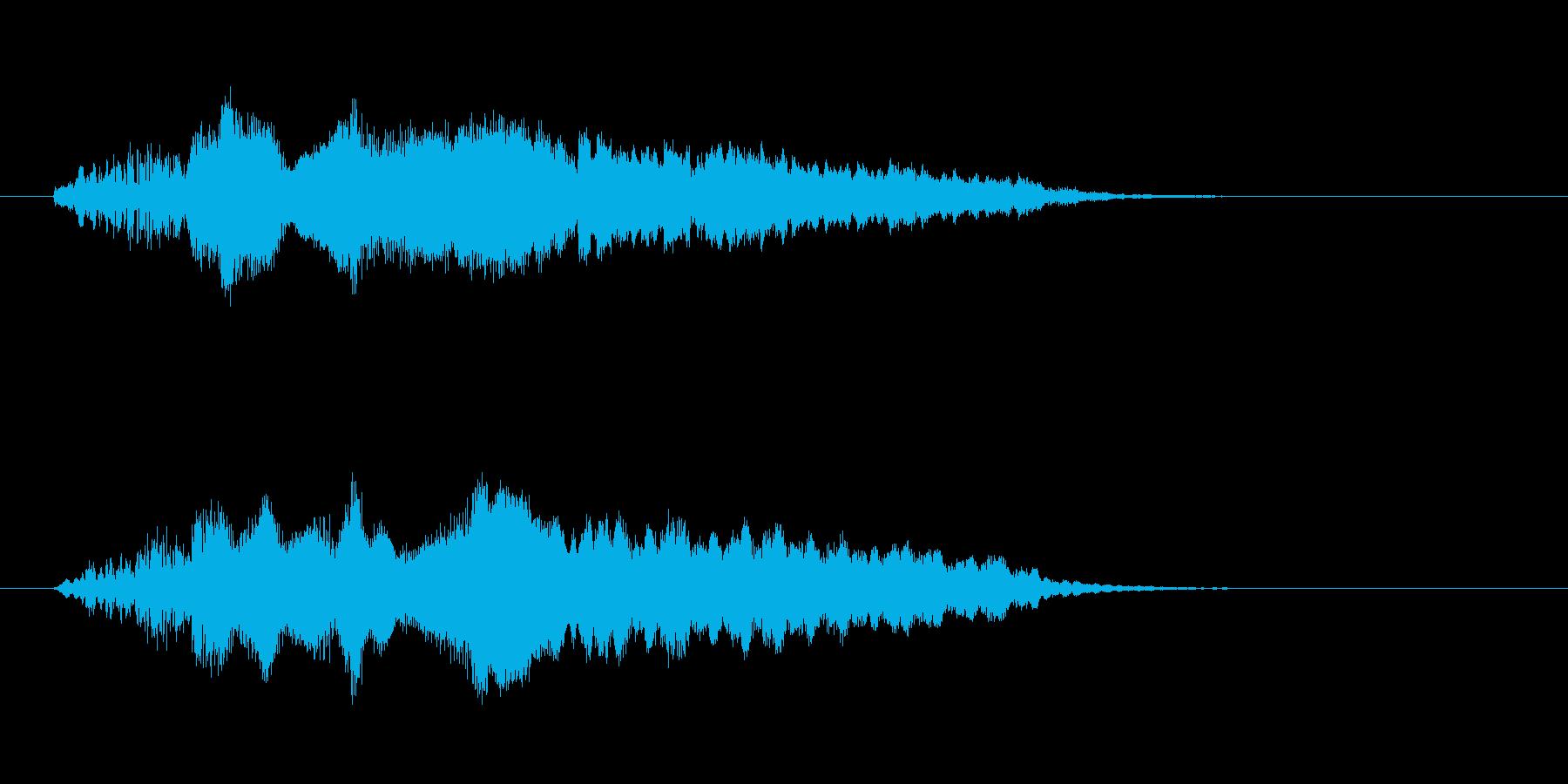 さわやかなフルートのジングルの再生済みの波形