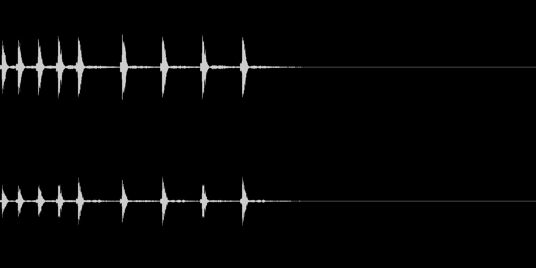 和風なサウンドロゴの未再生の波形
