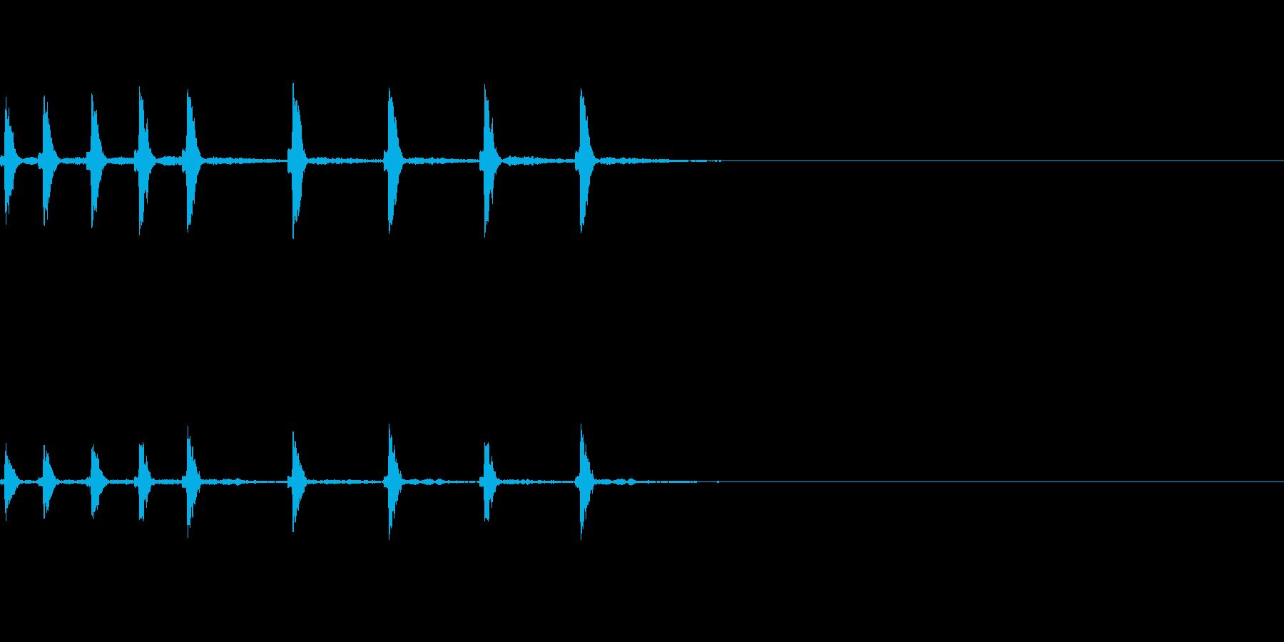 和風なサウンドロゴの再生済みの波形