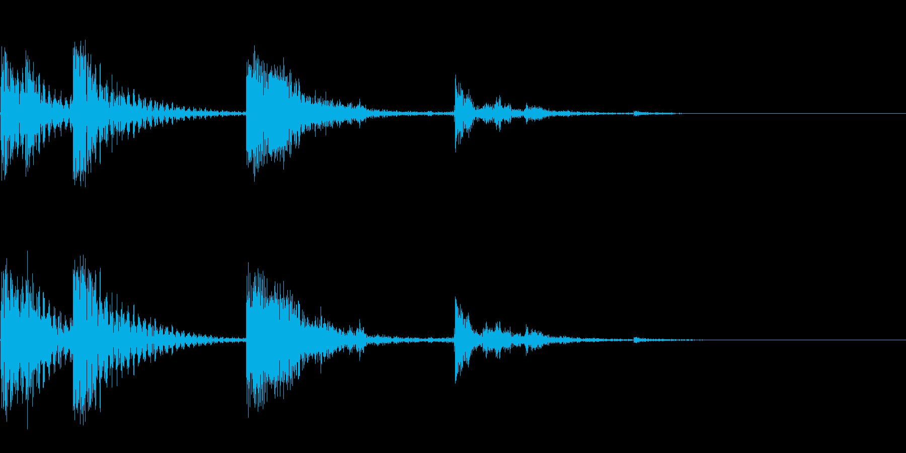 貯金箱に小銭を入れる音の再生済みの波形