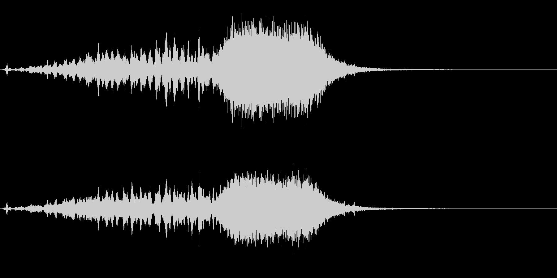サウンドロゴ  鉛筆とタイトルの未再生の波形