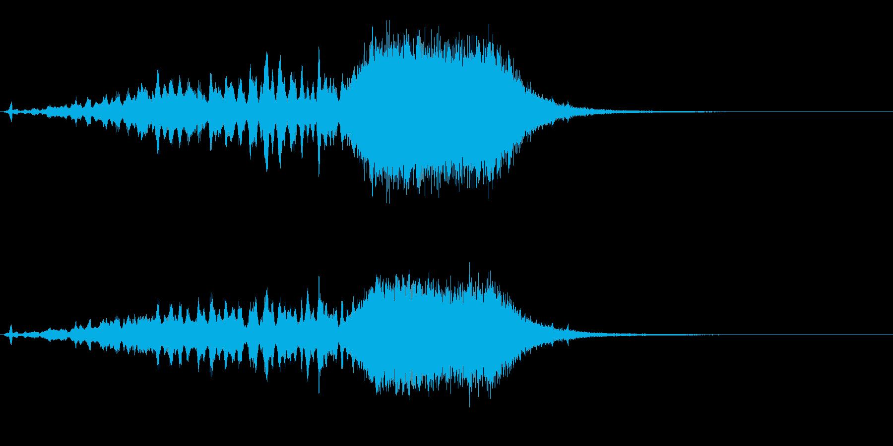 サウンドロゴ  鉛筆とタイトルの再生済みの波形