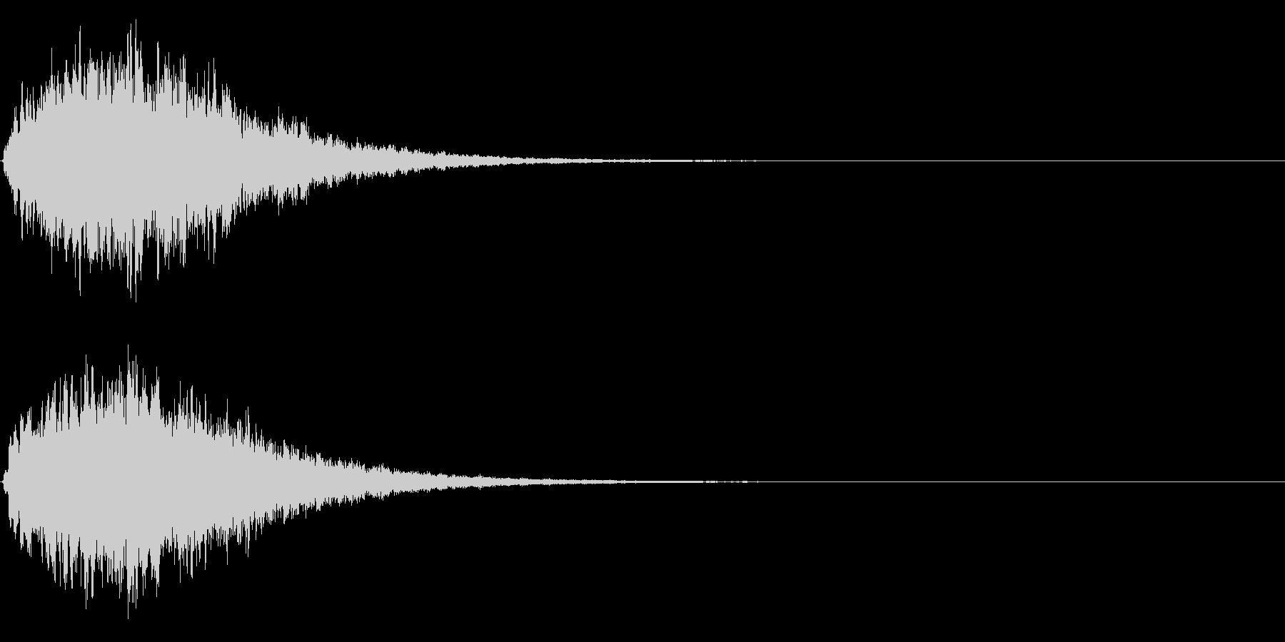 ゲームスタート、決定、ボタン音-039の未再生の波形
