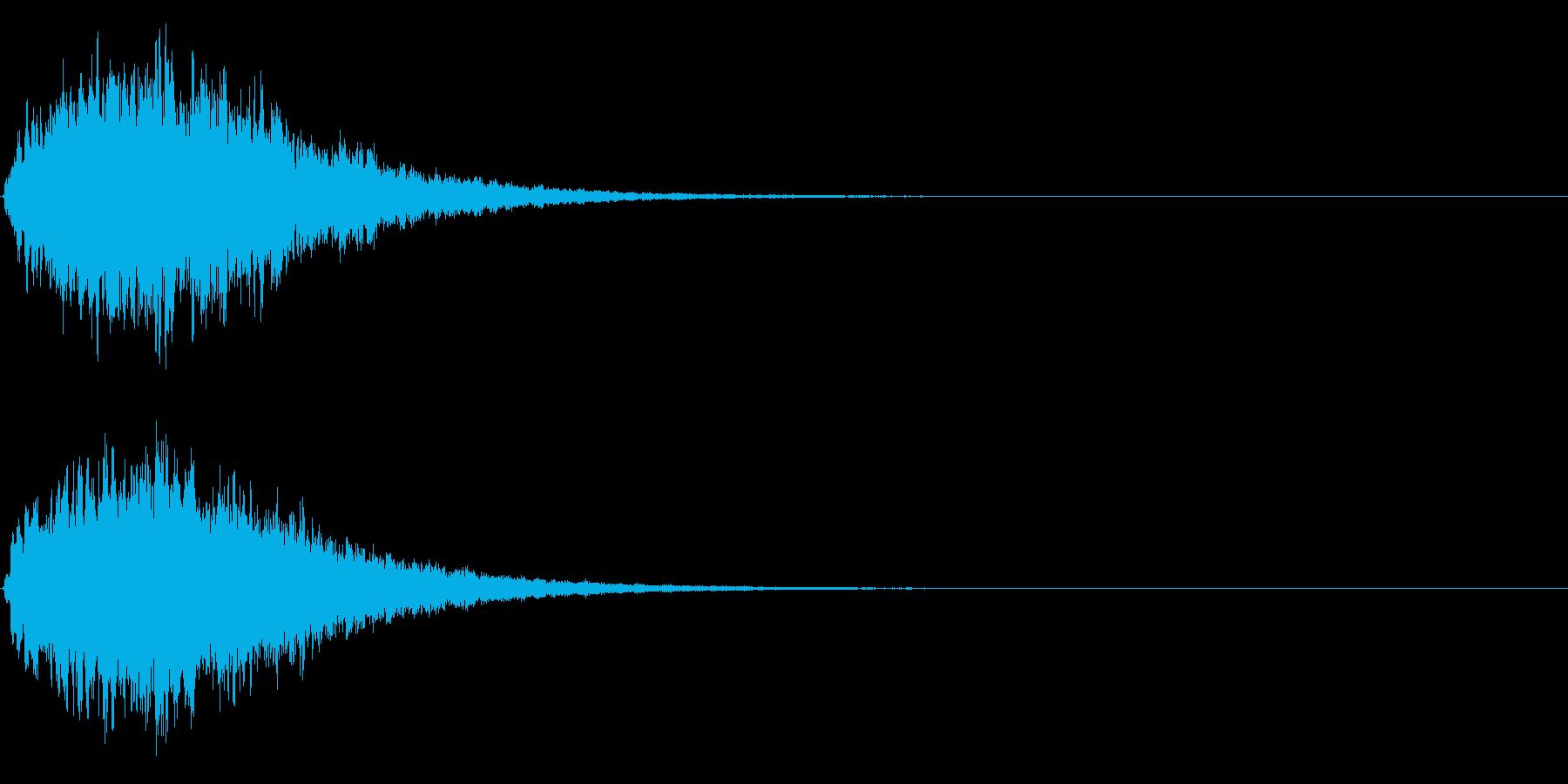 ゲームスタート、決定、ボタン音-039の再生済みの波形