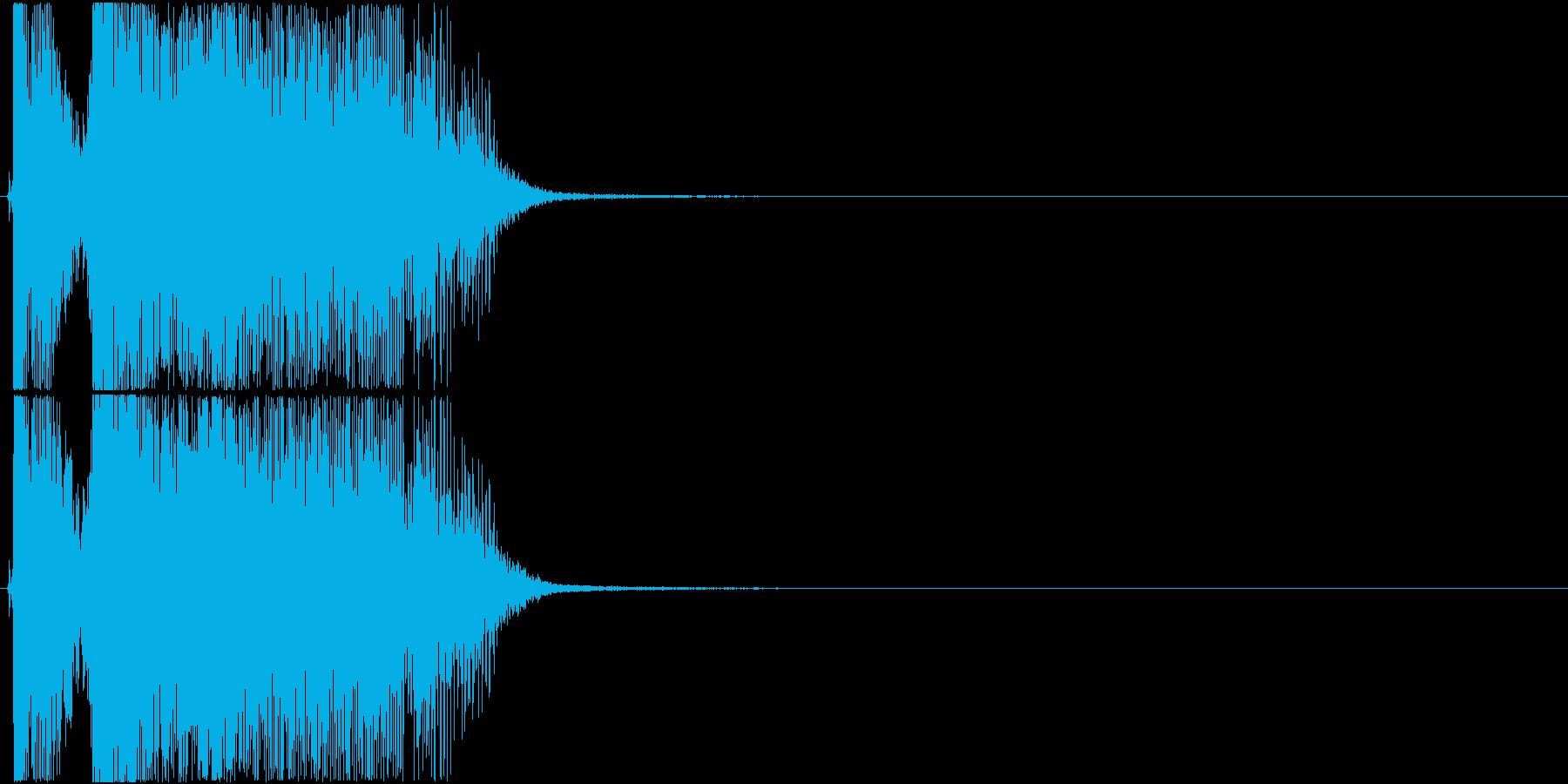「OK!」アプリ・ゲーム用3の再生済みの波形