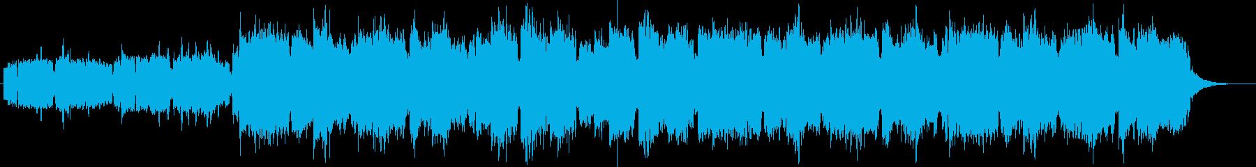 笛とホルンの爽やかなジングルの再生済みの波形