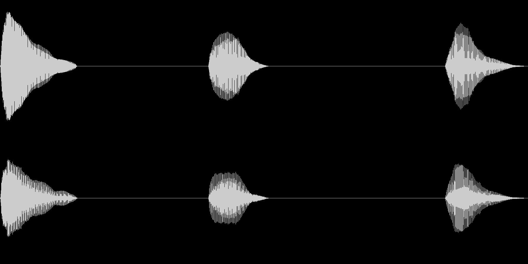 おならを小出しに3発出した音の未再生の波形