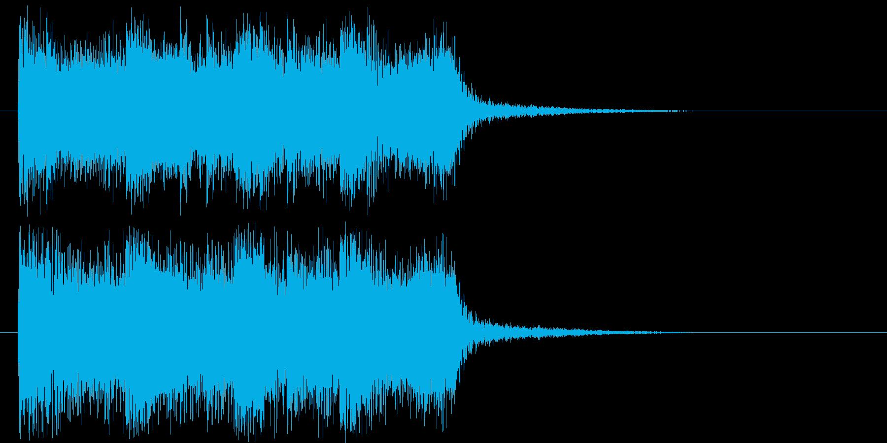 気迫のあるジングル曲の再生済みの波形