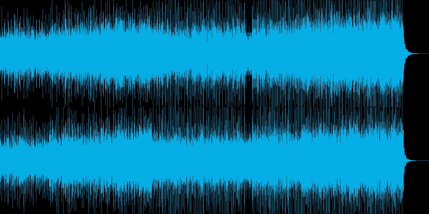 シンセ、アコギ、コーラスのEDMの再生済みの波形