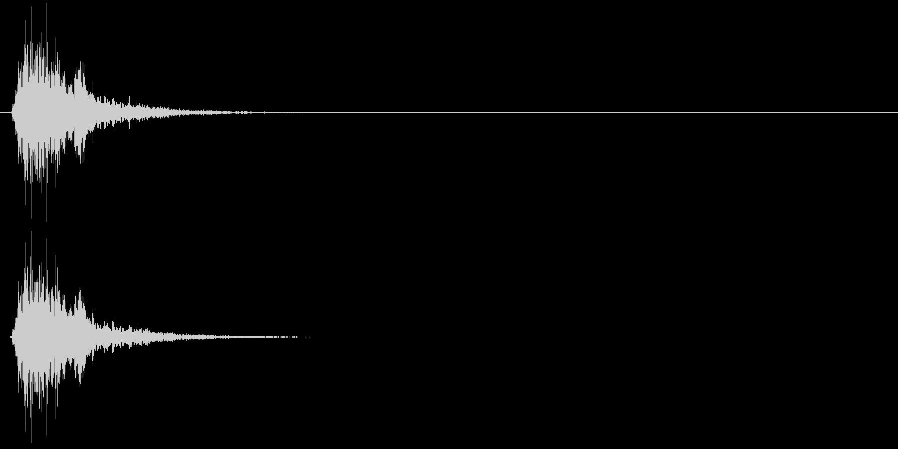 シャン(鈴、雪、クリスマス、低め)の未再生の波形