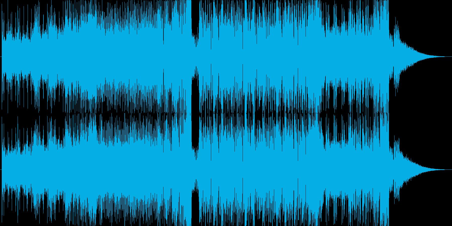 イケイケのベースハウス EDMの再生済みの波形