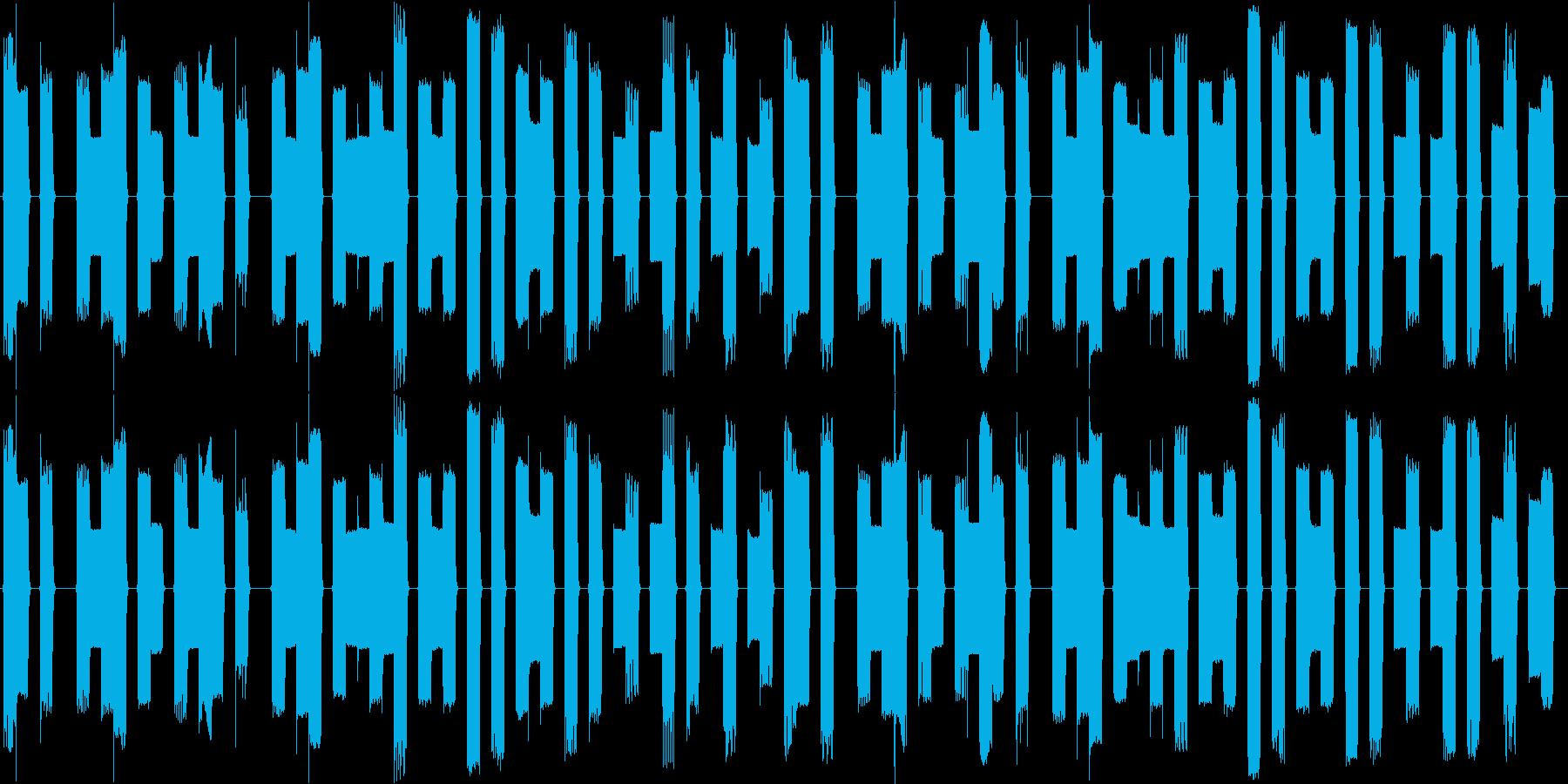 ファミコン風8bitチップチューンの再生済みの波形