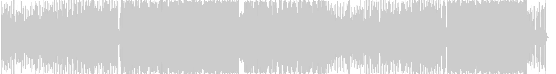 EDM風BGM BPM130 の未再生の波形
