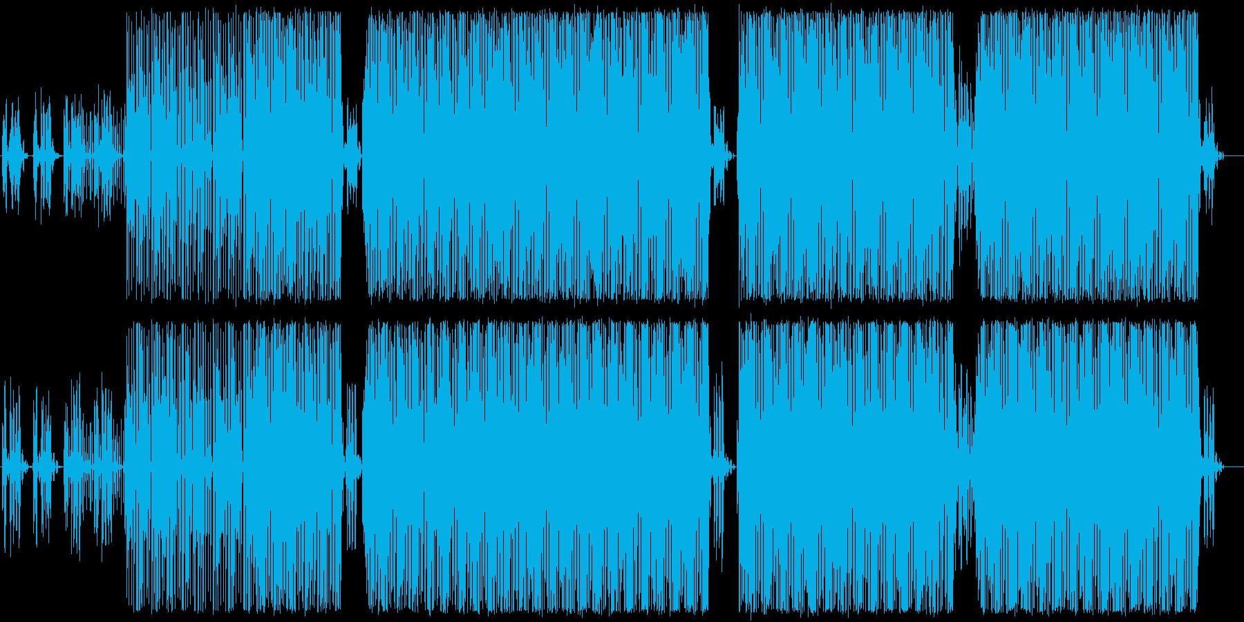 テクノ系インスト曲ですの再生済みの波形