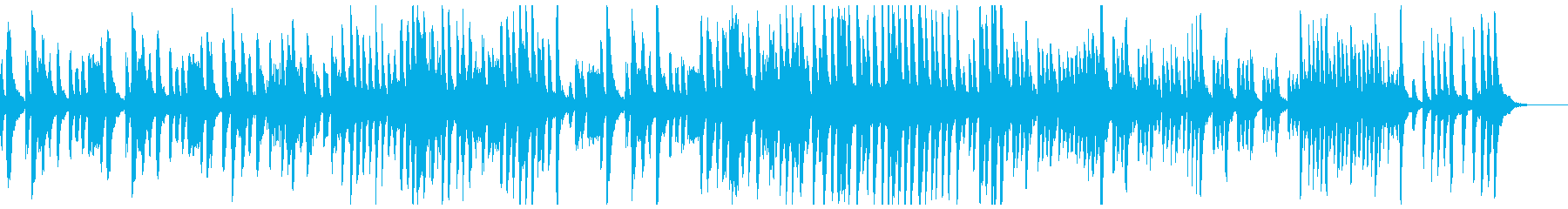 ピアノのクールなトラックの再生済みの波形