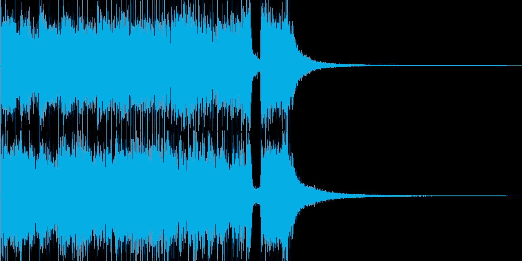野獣のようで攻撃的なSEの再生済みの波形