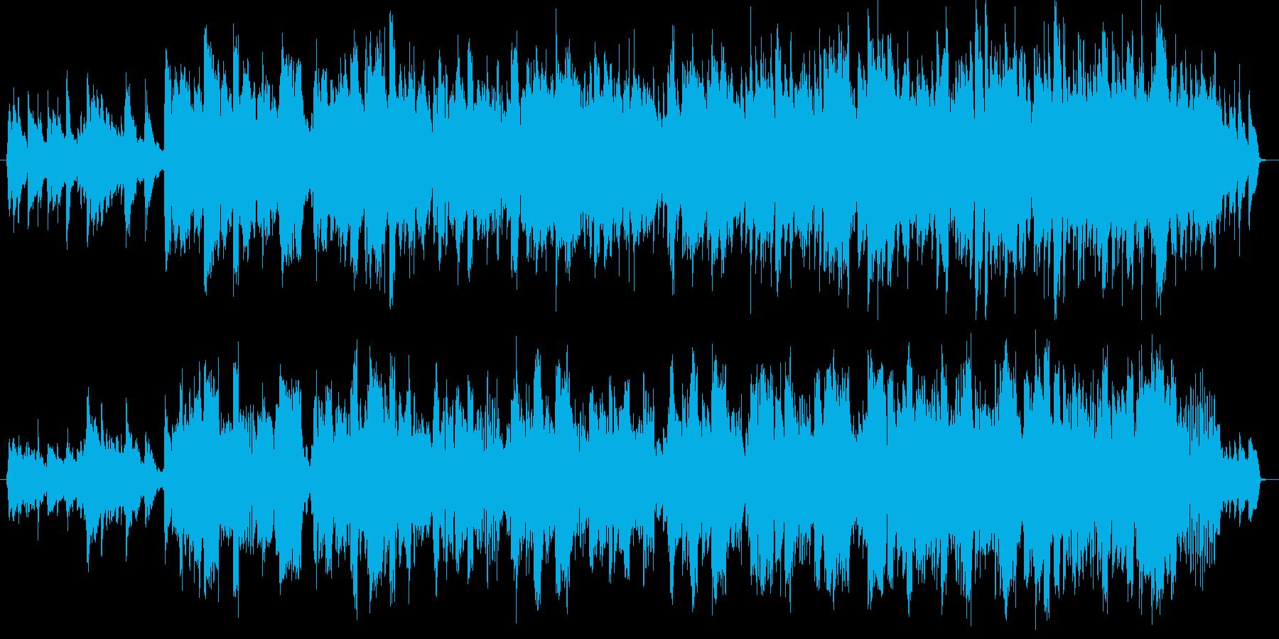 キラキラした雰囲気のJpopバラードの再生済みの波形