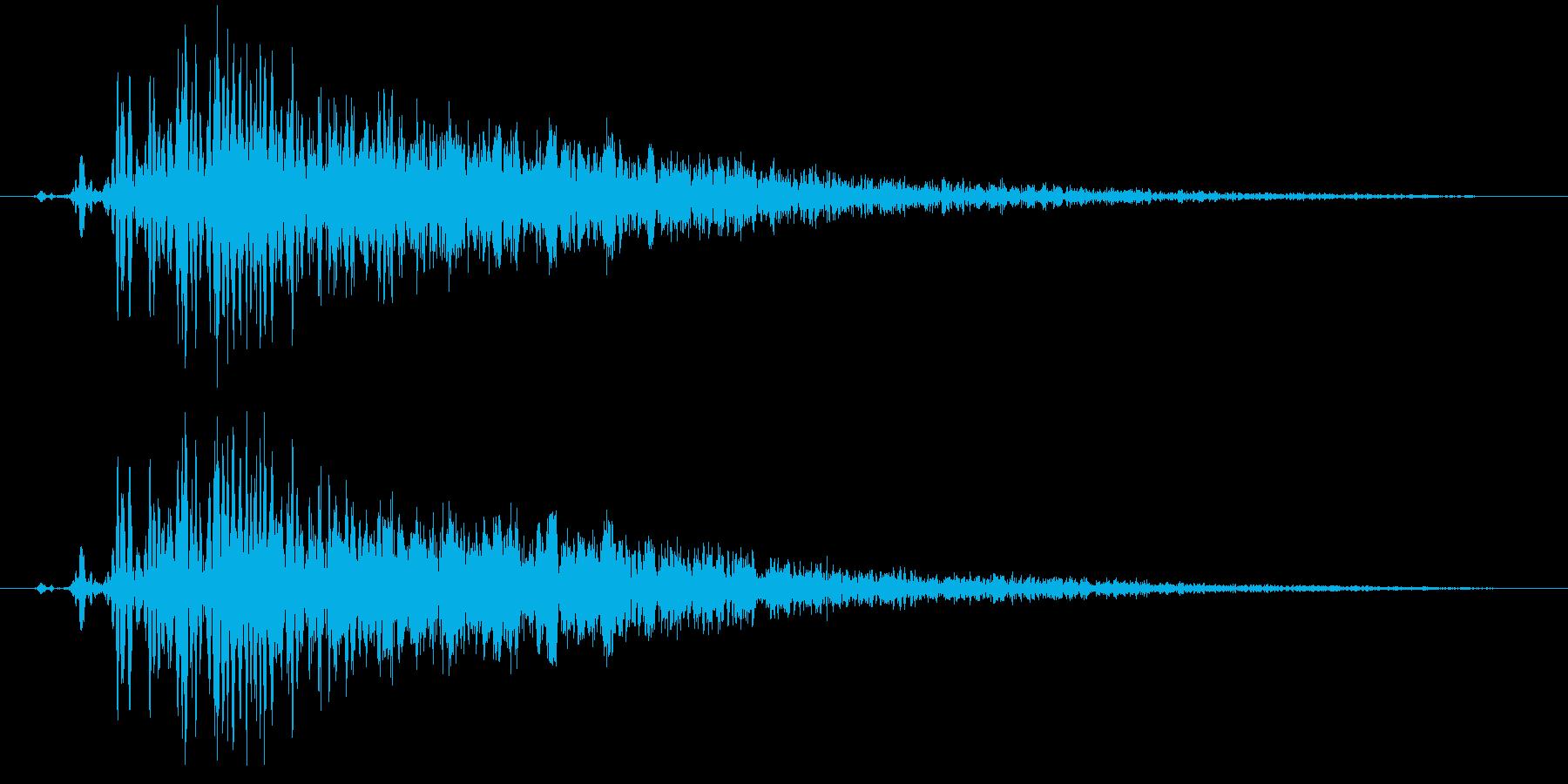 詠唱(魔方陣発生)の再生済みの波形