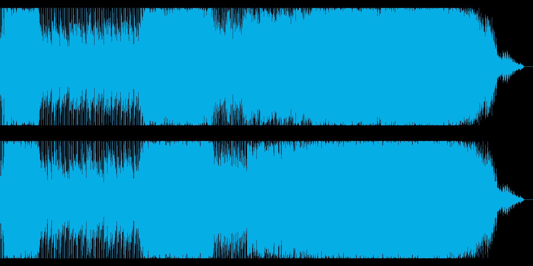 哀愁ウェスタン系ロックバラードの再生済みの波形