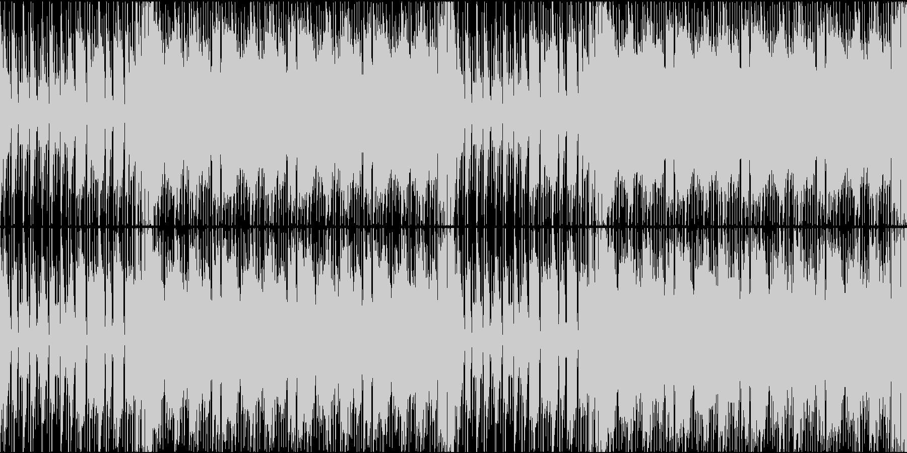 緊張感のあるギター系インストの未再生の波形
