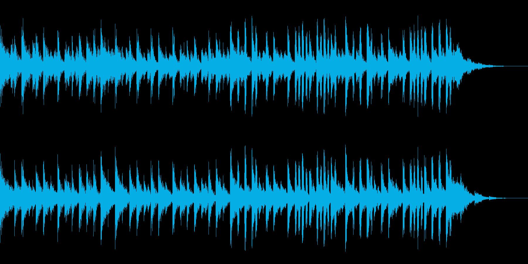 テクノとハウスのBGMの再生済みの波形