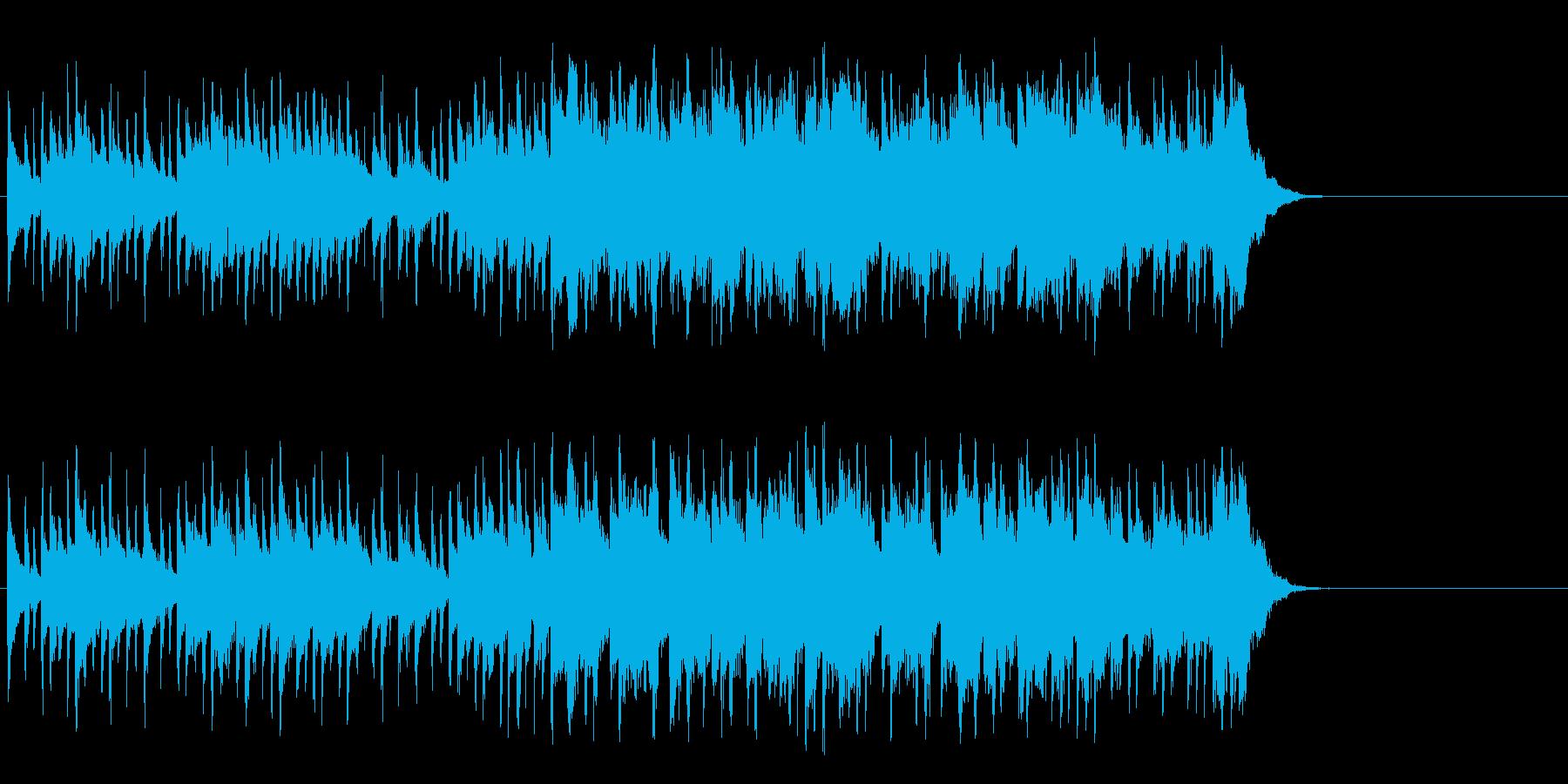 のんびりと爽やかなポップ(Aメロ~サビ)の再生済みの波形