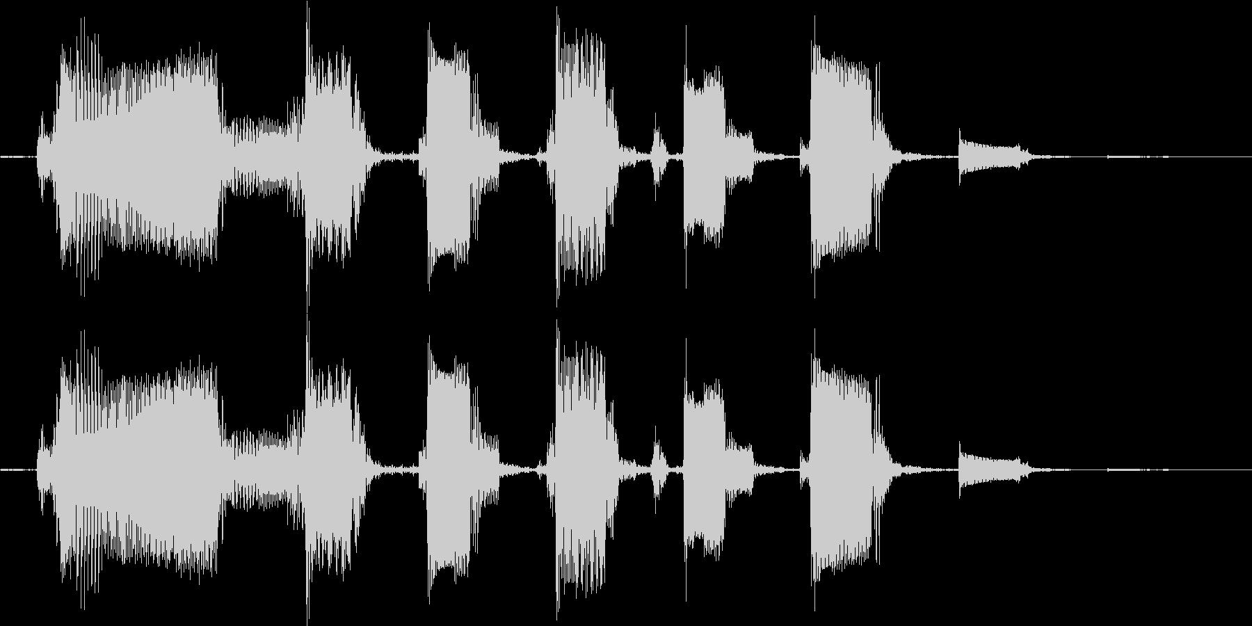 【ピコピコな音】Byエレキギターの未再生の波形
