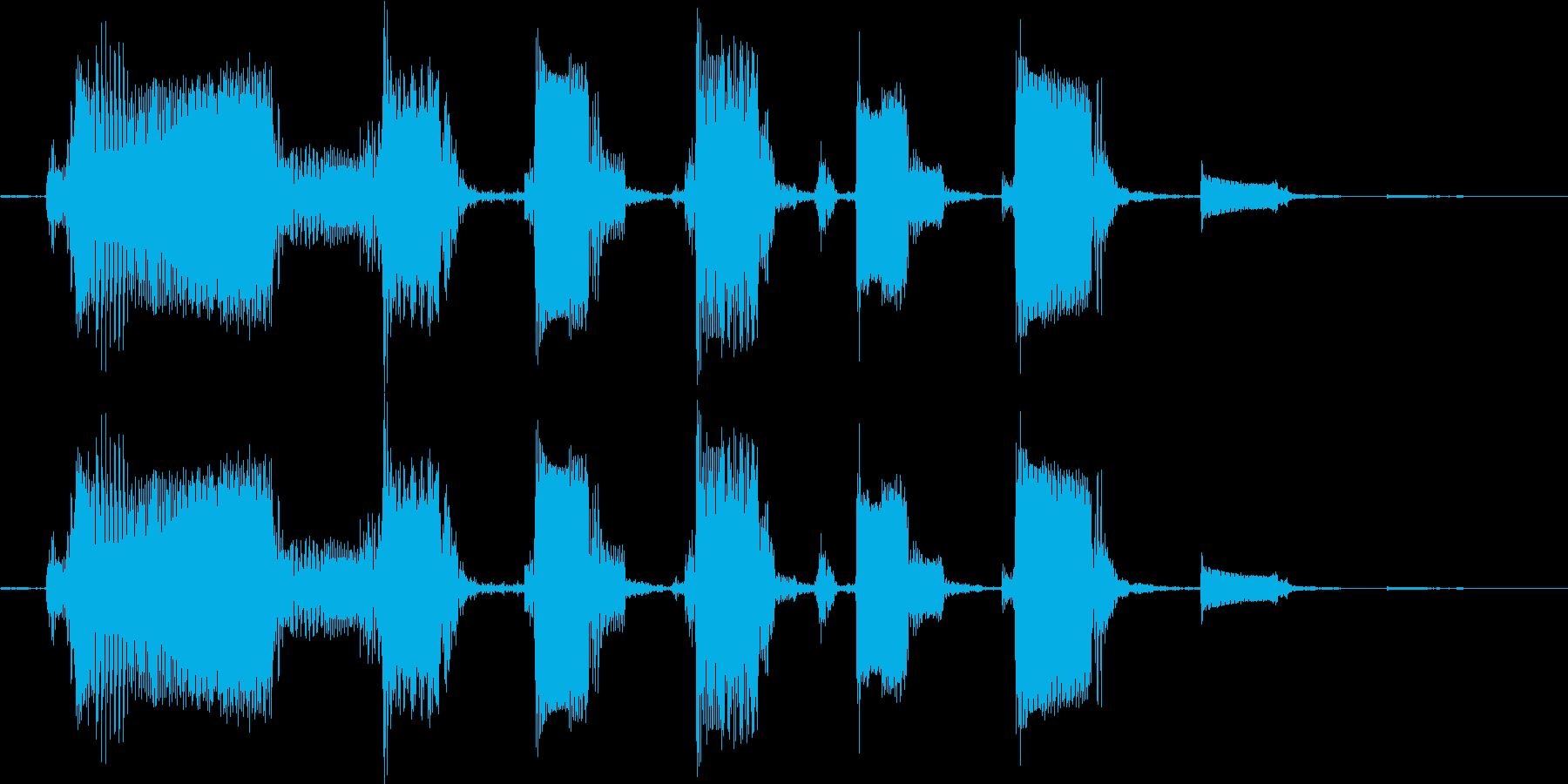 【ピコピコな音】Byエレキギターの再生済みの波形