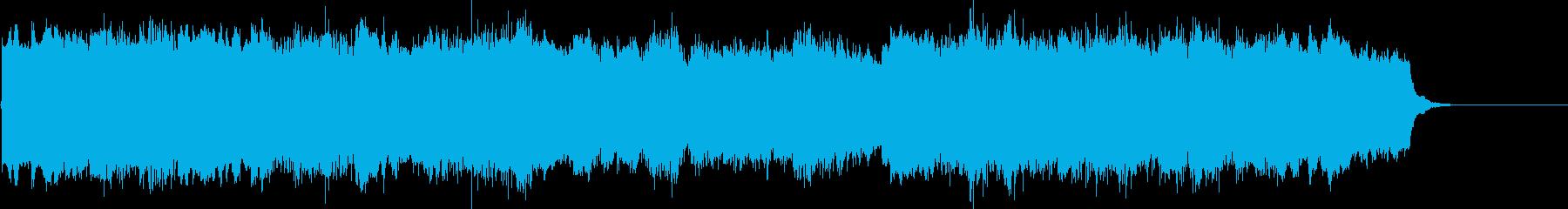 ゆったりとした短いBGMの再生済みの波形