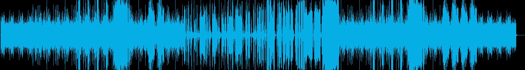生サックスでベースが疾走するfunkの再生済みの波形